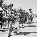 British infantry advance near Arezzo, Italy, 16 July 1944. NA16932.jpg