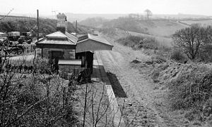 Yealmpton - Remains of Brixton Road station in 1964