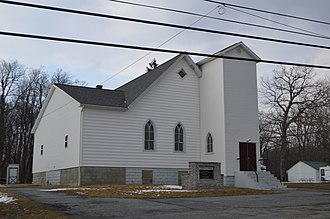 Broad Top City, Pennsylvania - Church of Christ on Railroad Avenue