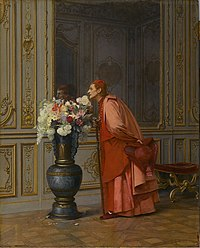 Brooklyn Museum - An Embarrassment of Choices, or A Difficult Choice (Un Embarras du Choix) - Jehan-Georges Vibert - overall.jpg