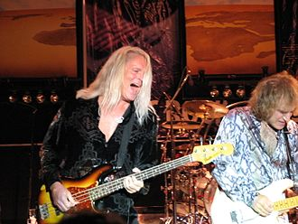Bruce Hall (musician) - Bruce Hall (with Dave Amato) in REO Speedwagon, 2007.