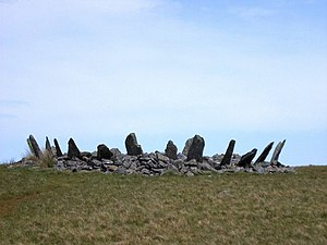 Stone circle - Bryn Cader Faner, North Wales.