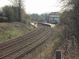 Buckley railway station from Station Road - DSC05515.JPG
