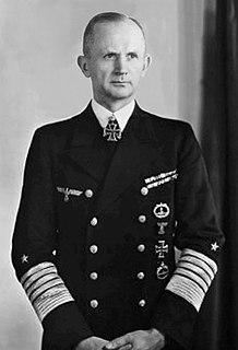 Karl Dönitz Commander of the German submarine Forces during World War II; last President of Nazi Germany (1891-1980)