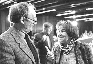 West German presidential election, 1984 - Image: Bundesarchiv Bild 183 1987 0714 302, Berlin, Hermann Kant und Luise Rinser