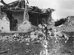 Battle of Guadalajara - Destruction in aftermath of the battle