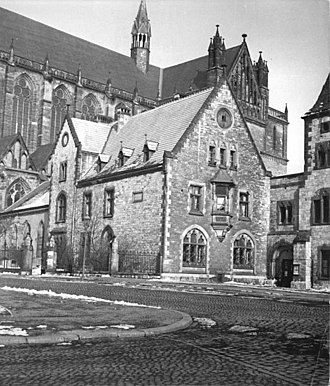 Prussian Union of Churches - The Saxony provincial consistory, in the background Magdeburg's Cathedral.