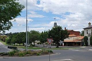Buninyong Town in Victoria, Australia
