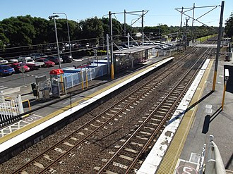 Burpengary railway station - Northbound view in July 2012
