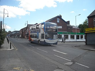 Marple, Greater Manchester - Stagecoach's 384 service towards Stockport