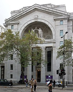 Bush House Building in London, part of the Strand Campus of Kings College London.