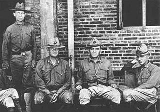 Smedley Butler - Butler (far right) with three other legendary Marines. From left to right: Sgt. Maj. John H. Quick, Maj. Gen. Wendell Cushing Neville, Lt. Gen. John Archer Lejeune