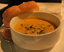 Butternut squash bisque at Sobu in Knoxville, TN.jpg