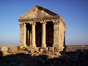 English: A Byzantine era temple at Idlib (anci...