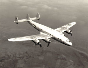 A C-69 Constellation in flight
