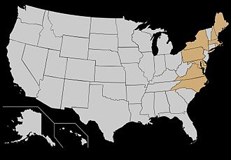 Colonial Athletic Association - Image: CAA Football Map