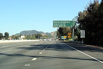 California State Route 23 - Overlap SR 23/US 101 (Ventura Freeway), seen towards east/south