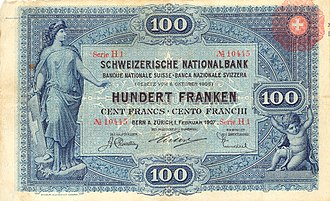 Banknotes of the Swiss franc - Image: CHF100 1 front horizontal