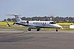 CMS Air Ambulance (VH-CXJ) Bombardier Learjet 45 taxiing at Wagga Wagga Airport (1).jpg
