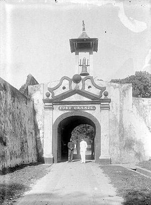 Fort Oranje (Ternate) - Entrance to Fort Oranje.