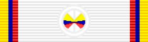 Order of Health Merit Jose Fernandez Madrid - Image: COL Oficial Orden del Mérito Sanitario José Fernández Madrid cinta