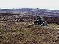 Cairn on Emblehope Moor - geograph.org.uk - 1185581.jpg