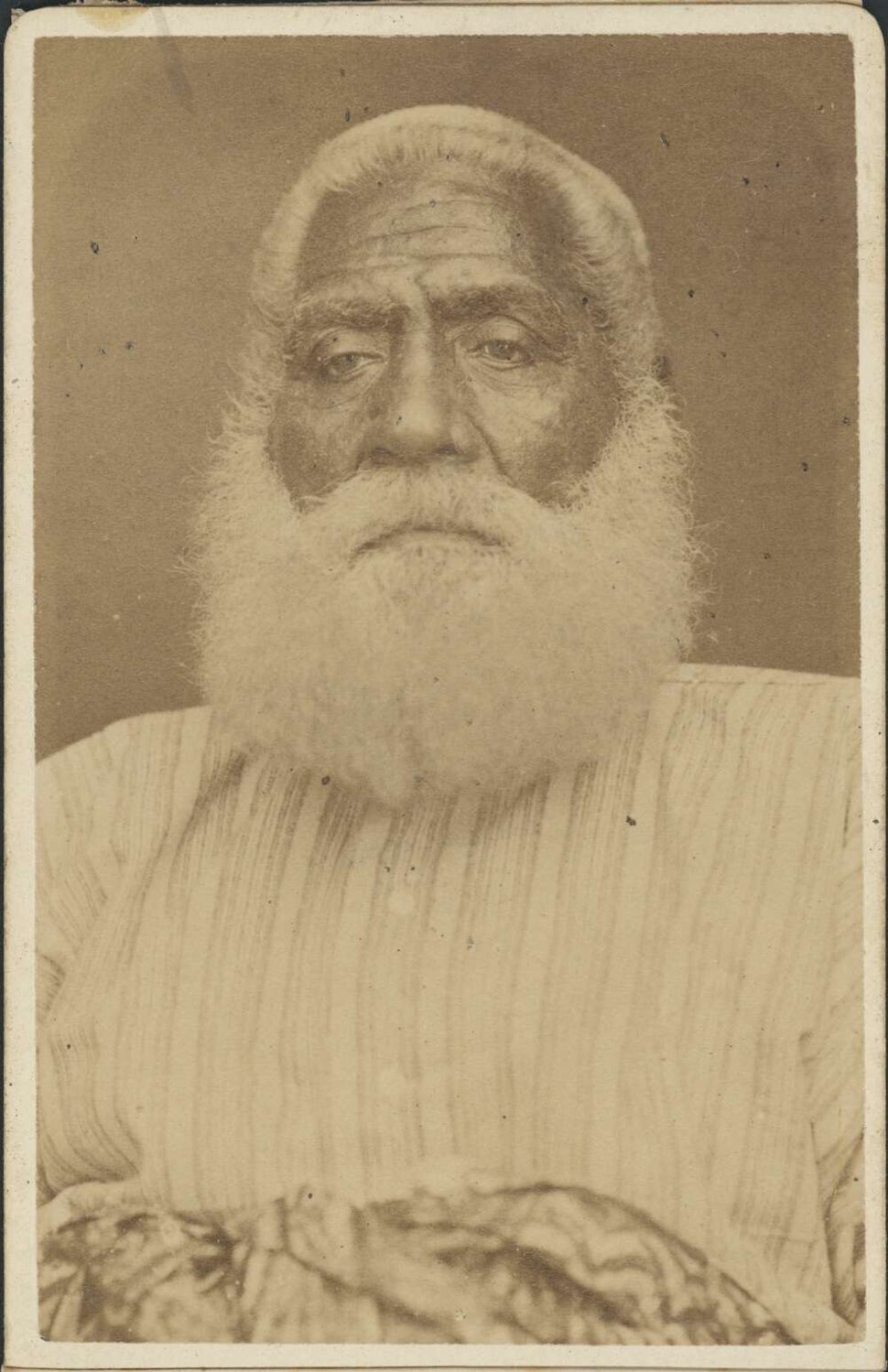 Cakobau, died February 1883, photograph by Francis H. Dufty
