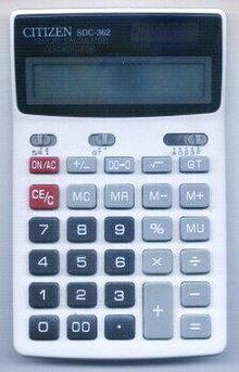 https://upload.wikimedia.org/wikipedia/commons/thumb/e/e4/Calculator_Citizen_SDC-362.jpg/220px-Calculator_Citizen_SDC-362.jpg