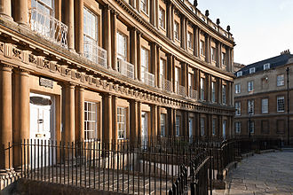 """Caleb Hillier Parry - Caleb Hillier Parry's house, in the """"Circus"""", Bath"""