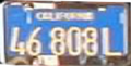 California commercial license plate early 70s.png