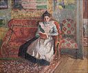 Camille Pissarro, Jeanne Pissarro, Called Cocotte, Reading, 1899. Oil on canvas.jpg