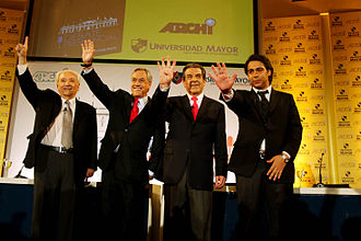 2009–10 Chilean presidential election - The four candidates attend the second debate organized by Archi.