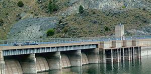 Canyon Ferry Dam - Dam from lake side