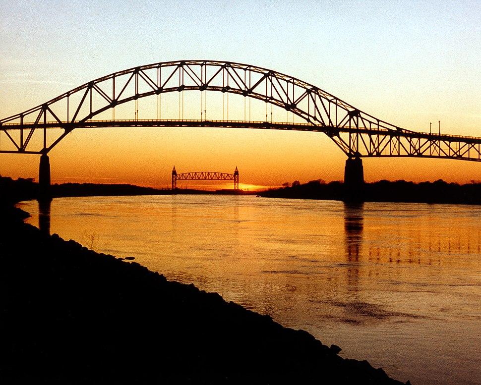 Cape Cod Bourne Bridge and Railroad Bridge