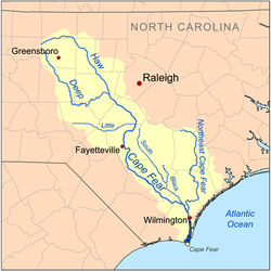 Cape Fear Nc Map Cape Fear River   Wikipedia