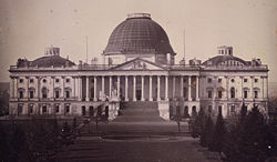 The U.S. Capitol in 1846. American lawmakers were deeply suspicious about Mormon patriotism, their government, and the practice of polygamy.