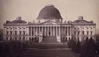Utah War - The U.S. Capitol in 1846. American lawmakers were deeply suspicious about Mormonism, their government, and the practice of polygamy.