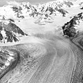 Capps Glacier, valley glacier, firn line, icefall, and bergschrund, August 23, 1960 (GLACIERS 6433).jpg