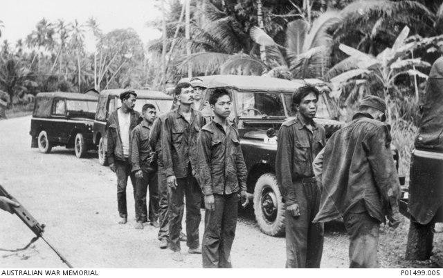 Captured Indonesian Infiltrators (AWM P01499.005)