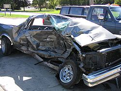 One of the consequences of a serious automobile accident.
