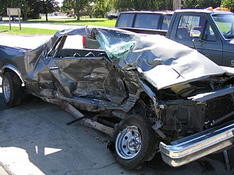 Result of a serious car collision Car crash 2.jpg