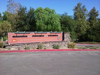 Carbon Canyon Regional Park - The main sign of the park during the summer