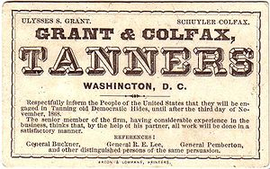 United States presidential election, 1868 - Grant/Colfax humorous campaign card