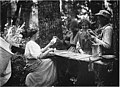 Card game in the woods, Port Madison, ca 1910 (MOHAI 3579).jpg