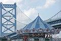 Carousel, shirtless guy, & Ben Franklin Bridge (2599499906).jpg