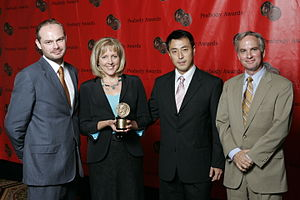 Carrie Gracie - Carrie Gracie and the crew of White Horse Village at the 67th Annual Peabody Awards in 2008