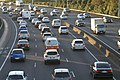 Cars in traffic in Auckland, New Zealand - copyright-free photo released to public domain.jpg