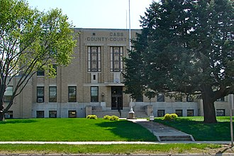 National Register of Historic Places listings in Cass County, Iowa - Image: Cass Co IA Court House
