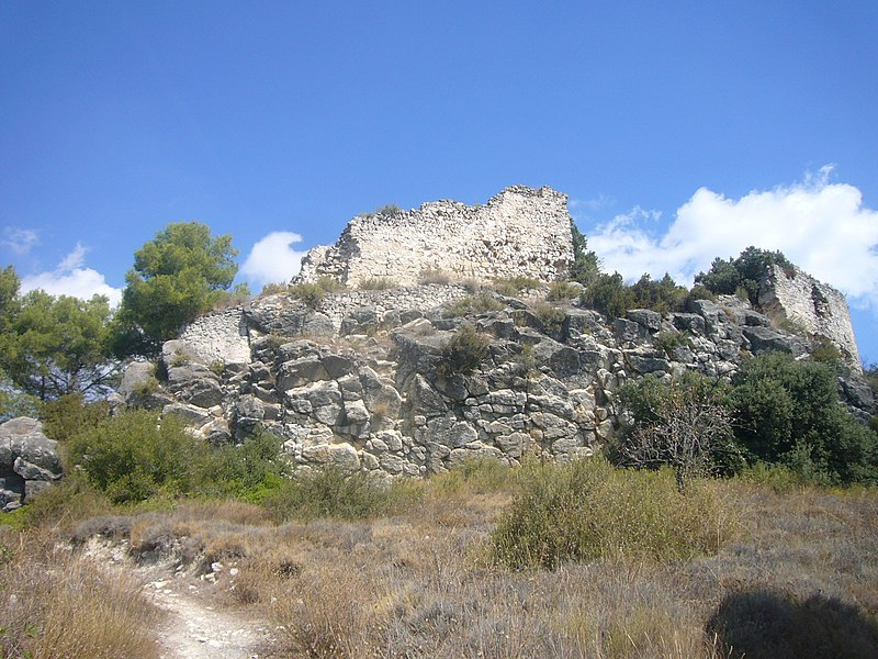Ruins of the Castell de Miralles, Anoia, Catalonia, from Wikimedia Commons