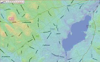 Castletown Geoghegan - Image: Castletown Geoghegan detail map 01
